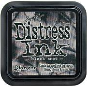 Tim Holtz Distress Ink Stamp Pad - Black Soot