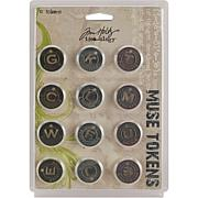 "Tim Holtz Idea-Ology 7/8"" Muse Tokens"