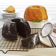 Tortuga 16 oz. Chocolate Rum Cake and Golden Rum Cake