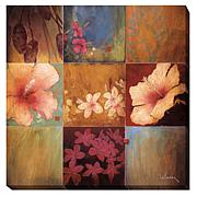 """""""Tropical Nine Patch II"""" Gallery-Wrapped Canvas Art"""
