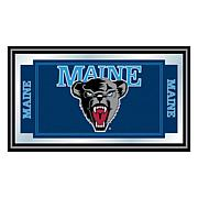 University of Maine Logo and Mascot Framed Mirror