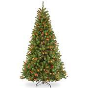 Winter Lane 7-1/2' N.Valley Spruce Hinged Tree w/Lights