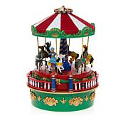 Winter Lane Carnival Carousel Mini Music Box