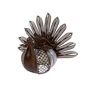 Winter Lane Metal Galvanized Rusted Metal Turkey with Textured Body