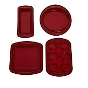 Wolfgang Puck 4-piece Silicone Collapsible Bakeware Set