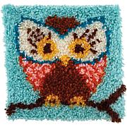"Wonderart 12"" x 12"" Latch Hook Kit - Hoot Hoot"