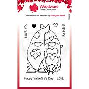 """Woodware Clear Singles 4"""" x 6"""" Stamp - Valentine Gnome"""