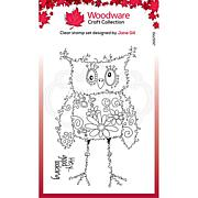 """Woodware Clear Singles Fuzzy Friends 4"""" x 6"""" Stamp - Horace"""