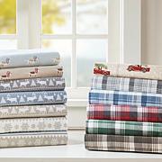 Woolrich Cotton Flannel Brown Sheet Set - King