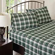 Woolrich Cotton Flannel Green Sheet Set - Queen