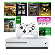 Xbox One S 1TB Minecraft Console Bundle w/Titanfall Game & Accessories