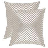 "Safavieh Elle Silvertone Linen Pillows - 22"" x 22"""