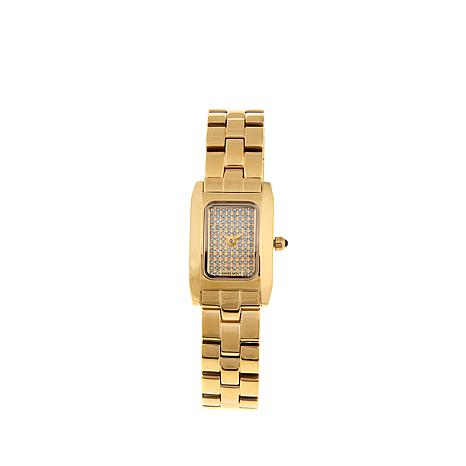 0.45ctw Diamond and Sapphire Goldtone Bracelet Watch
