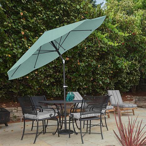Attrayant 10u0027 Auto Tilt Patio Umbrella With Easy Crank   Dusty Green
