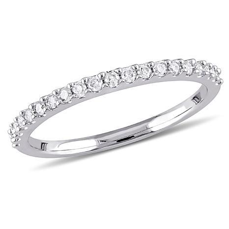 10K White Gold Diamond Eternity Band Ring