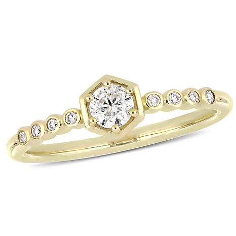 10K Yellow Gold 0.29ctw  Diamond Fashion Ring