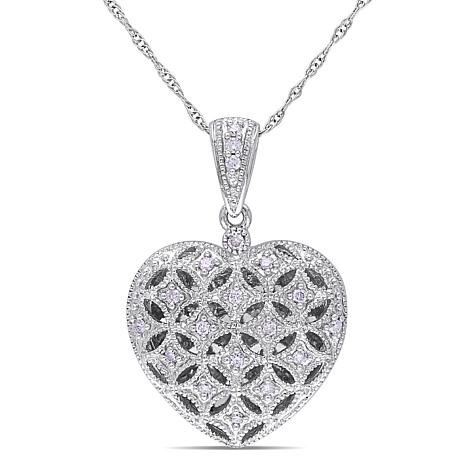 in image diamond shop pendant fpx main accent product s locket necklace macy heart gold