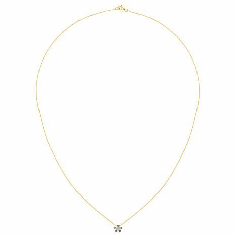 14K Gold 1.05ctw Moissanite Flower Pendant with Chain