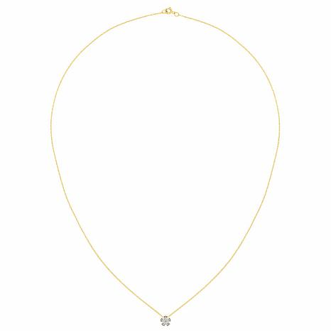 14K Gold 1.05ctw Moissanite Flower Pendant with Chain