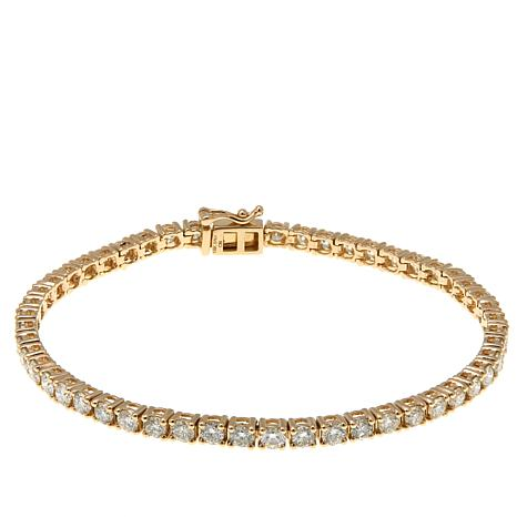 14K Gold 4.98ctw Diamond Line Bracelet