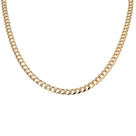 22a6690b0 14K Yellow Gold 7mm Curb-Link Chain 24