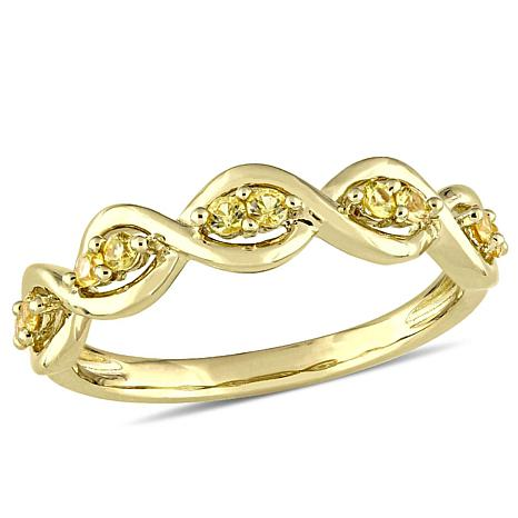 14K Yellow Gold 0.26ctw Yellow Sapphire Stackable Infin