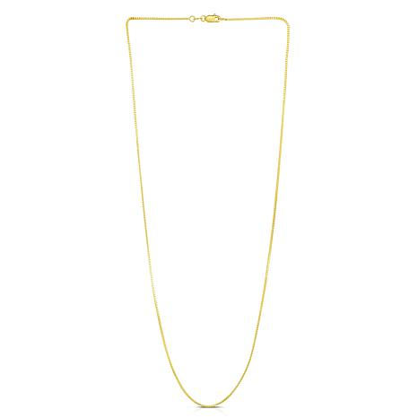 """14K Yellow Gold 0.87mm Box Chain Necklace - 30"""""""