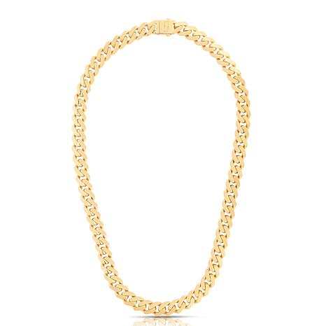 """14K Yellow Gold 11.3mm Polished Light Miami Cuban Chain Necklace - 22"""""""