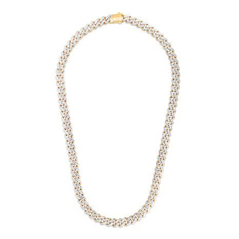 """14K Yellow Gold 9.5mm Light Miami Cuban Chain Necklace - 22"""""""