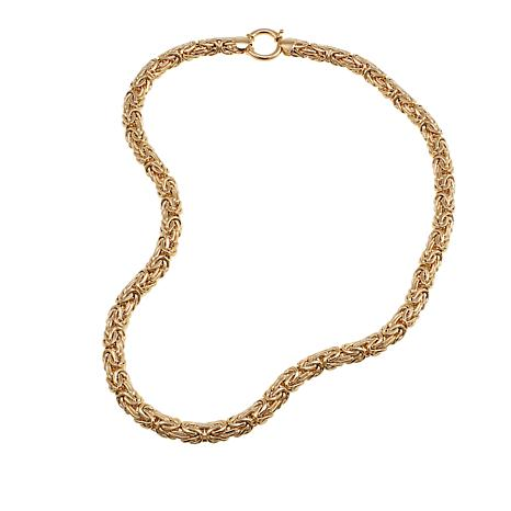 "14K Yellow Gold Domed Byzantine-Chain 18"" Necklace"