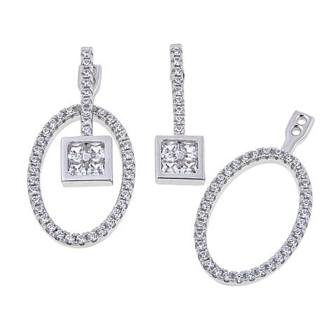 1.62ctw Absolute™ Multi-Stone Front-to-Back Earrings