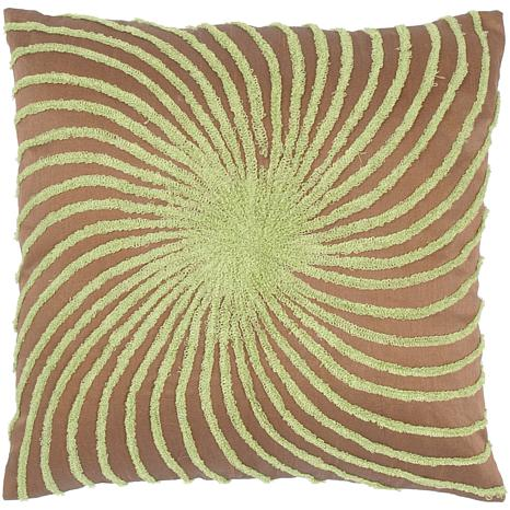 "18"" x 18"" Starburst Pillow - Peacock Blue/Brown"