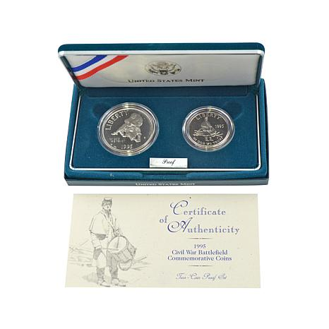 1995 Proof Civil War Battlefield Commemorative Set
