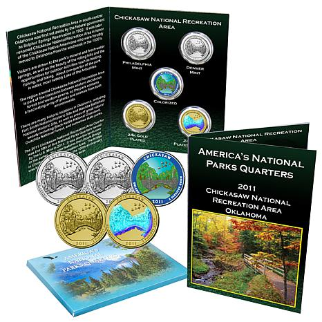 2011 Chickasaw National Park 5-Quarter Set