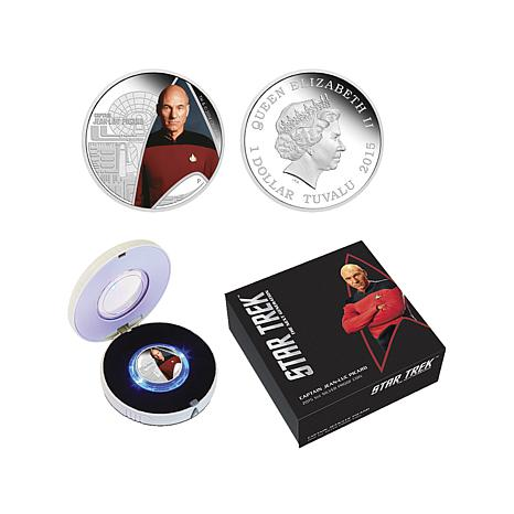 2015 Capt. Picard Silver Proof Coin in Lighted Box