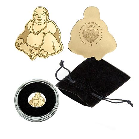2017 LE 15,000 Laughing Buddha 99.99% Gold Palau $1 Coin