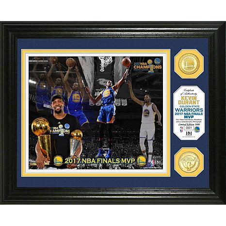 "2017 NBA Champions ""MVP"" Bronze Coin Photo Mint"