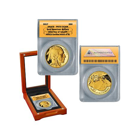 2017 PR70 ANACS FDOI LE of 51 $50 Gold Buffalo Coin