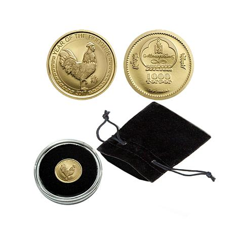 2017 Proof LE 15000 Year of the Rooster .9999 Gold Coin