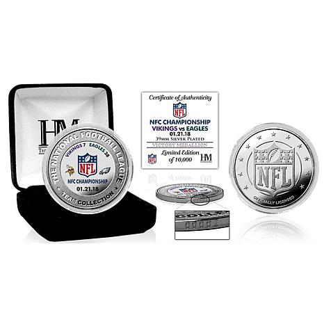 2018 NFC Champions Silver-Plated Highland Mint Victory Coin - Eagles