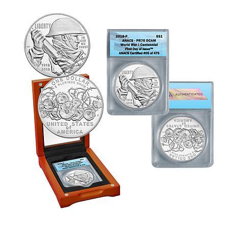 2018-P PR70 DCAM FDOI LE World War I Centennial Proof Silver Dollar