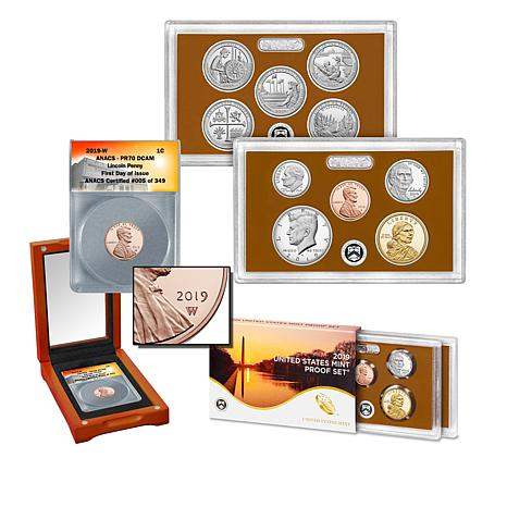 2019 PR70 FDOI LE Lincoln Penny and United States Mint Clad Proof Set