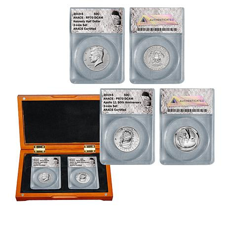 2019-S Apollo 11 50th Anniversary and John F. Kennedy Half Dollar Set