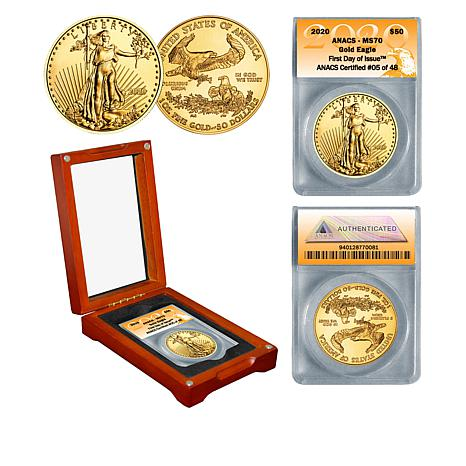 2020 MS70 ANACS First Day of Issue Limited Edition $50 Gold Eagle Coin