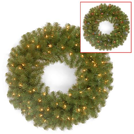 "24"" Battery-Operated North Valley Wreath"