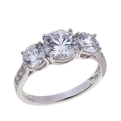 2.59ctw Absolute™ Cubic Zirconia 3-Stone  Ring