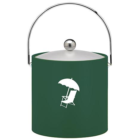 3-Quart Ice Bucket with Bale Handle and Lucite Lid