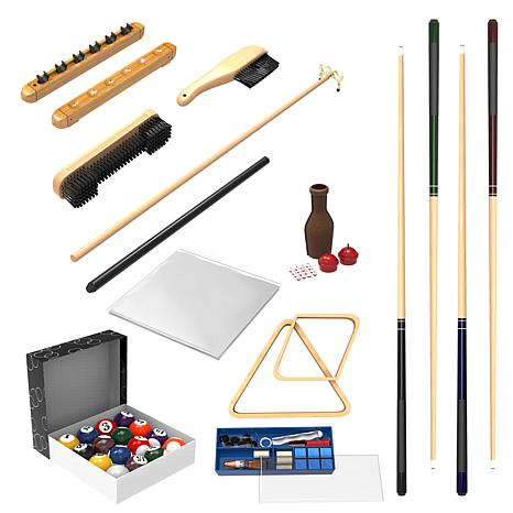 32 Piece Billiards Accessory Kit For Your Pool Table