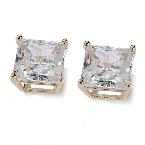 3ctw Absolute™ 14K Princess Basket Stud Earrings