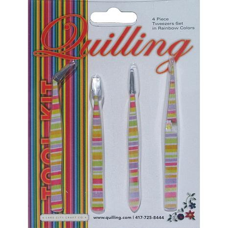 4-piece Tweezer Set - Rainbow